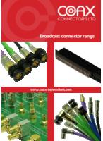 Coax Connectors vörulisti